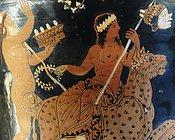 Dionysos Gott mit Leopard