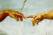 Michelangelo Gott erschafft Mensch