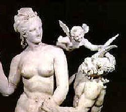 Eros der griechische Gott der Liebe und Fruchtbarkeit