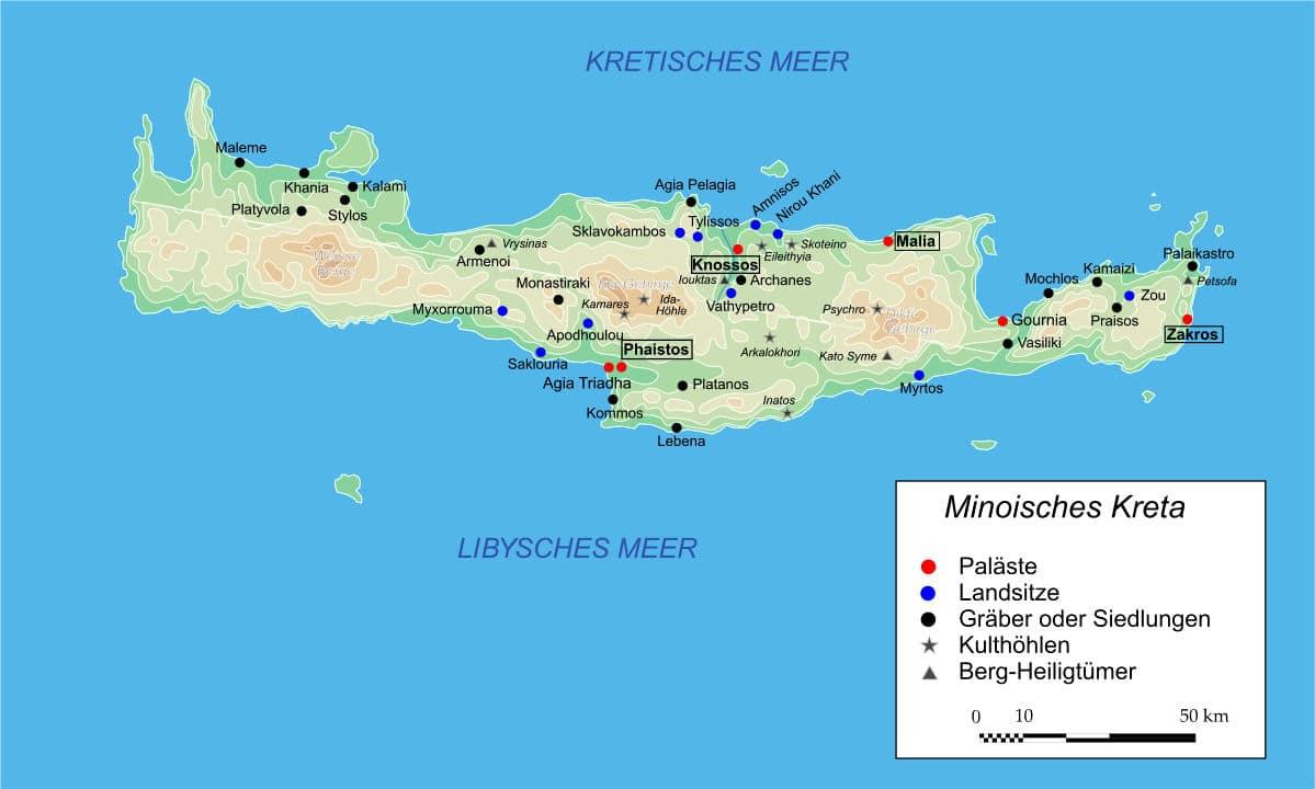 Kreta - Zentrum der vor-griechischen minoischen Kultur