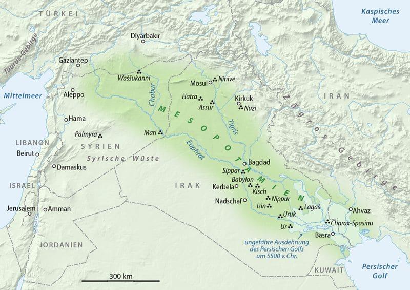 Mesopotamien Karte