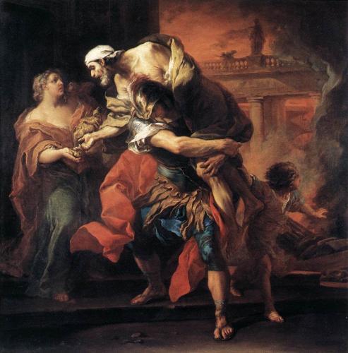 Aeneas und sein Vater Anchises