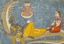 Brahma Vishnu und Lakshmi