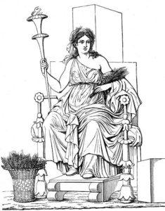 Göttin Demeter - griechische Göttin des Ackerbau und der Fruchtbarkeit