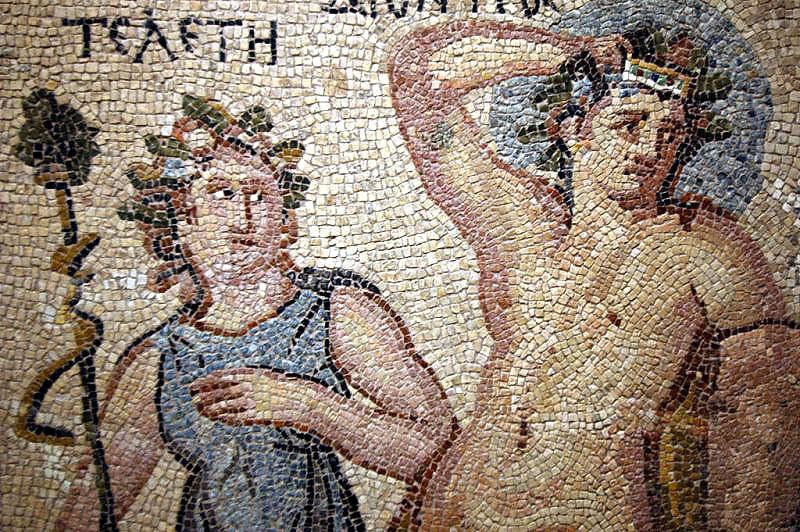 Dionysos im Mosaik von Zeugma