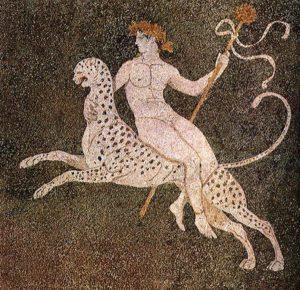 Dionysus auf einem Leopard