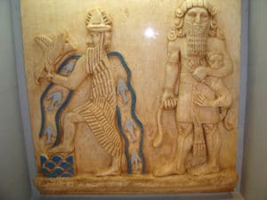 Enki links - Gott des Süßwassers
