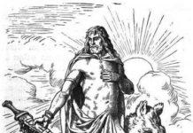 Freyr mit Schwert und Eber