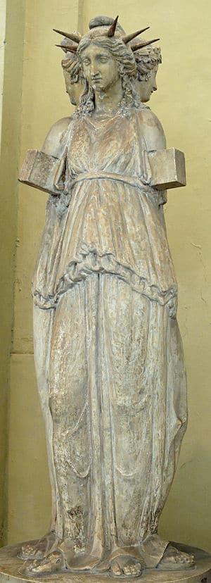 Hecate Chiaramonti, römische Kopie eines griechischen Originals
