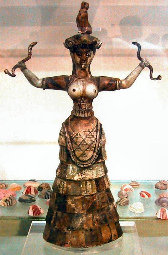 Kreta Knossos Schlangengöttin oder Priesterin