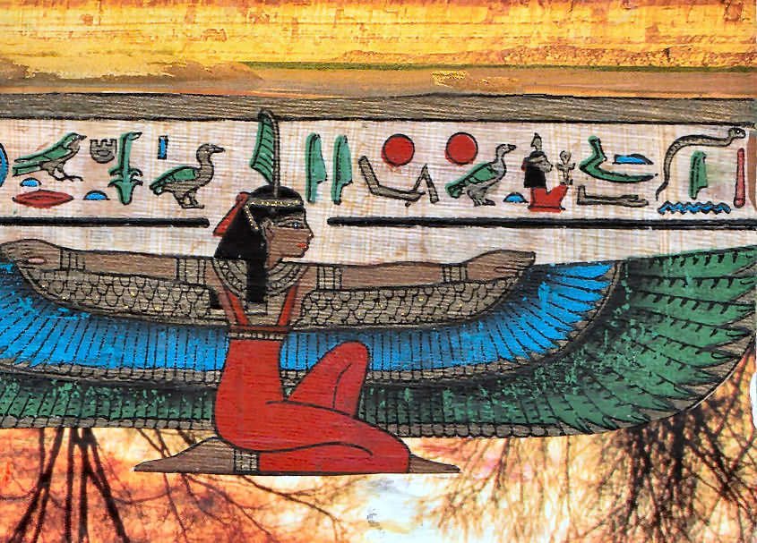 Mensch Gott und die Ordnung des Lebens - die ägyptische Göttin der Weisheit - Ma'at.