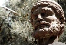 Büste des Odysseus im heutigen Ithaka, der Heimat des Helden