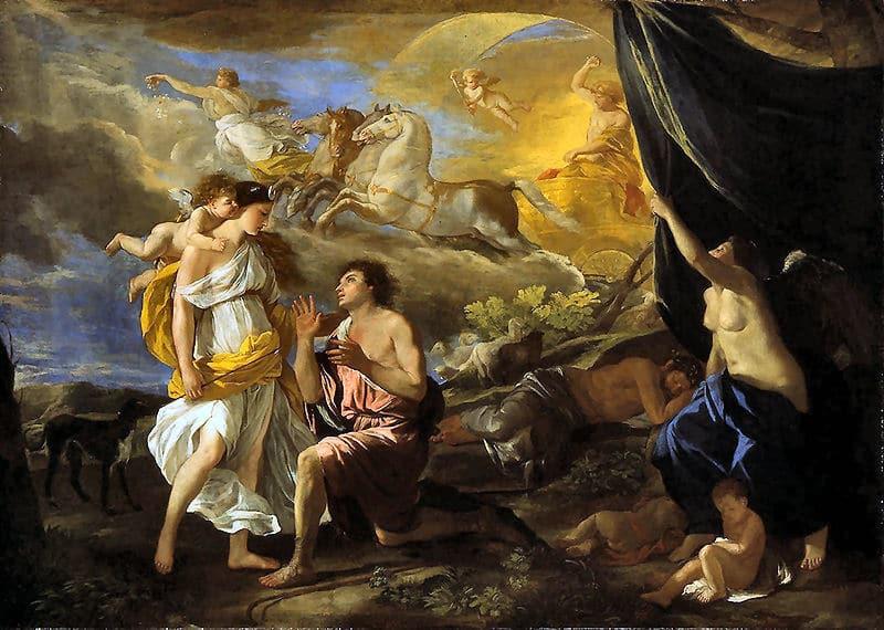 Die Mondgöttin Selene und ihr Geliebter Endymion