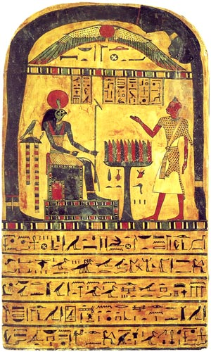 Ägyptische Mythologie - das Totengericht auf der Stele des altägyptischen Priesters Ankh af na Khonsu