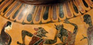 Theseus tötet den Minotaurus