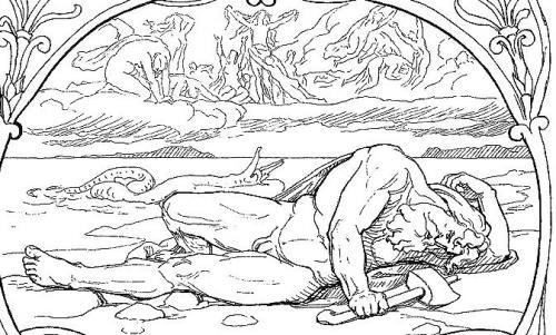Thor und Midgard-Schlange