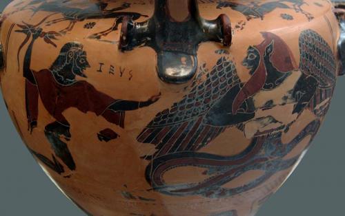 Typhon, Sohn der Göttin Gaia und Zeus