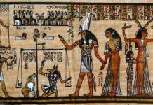Das Totengericht mit seinen Göttern
