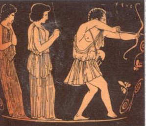 Odysseus Abenteuer: Odysseus tötet die Freier