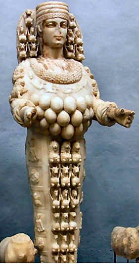 Artemis - die griechische Göttin der Jagd in Ephesos (Türkei)