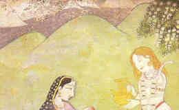 Shiva und Parvati mit ihrem Sohn Ganesha