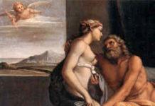 Hera, die Göttin der Ehe bei den Griechen, umworben von Zeus