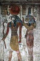 ägyptische göttin ma'at und horus
