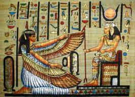 ägyptische göttin ma'at und isis