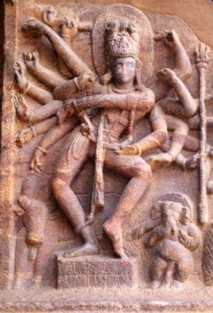 Indischer Gott der Ekstase, des Tanzes und der Zerstörung: Shiva