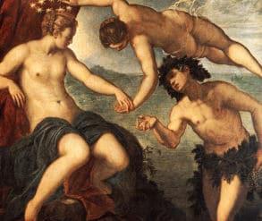 Dionysos / Bacchus und Ariadne - Hochzeit - mit Aphrodite