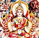 indische Götter Shakti_Durga_Parasvati