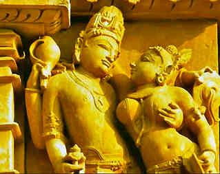 Indische Götter: Shiva und seine Gemahlin Parvati