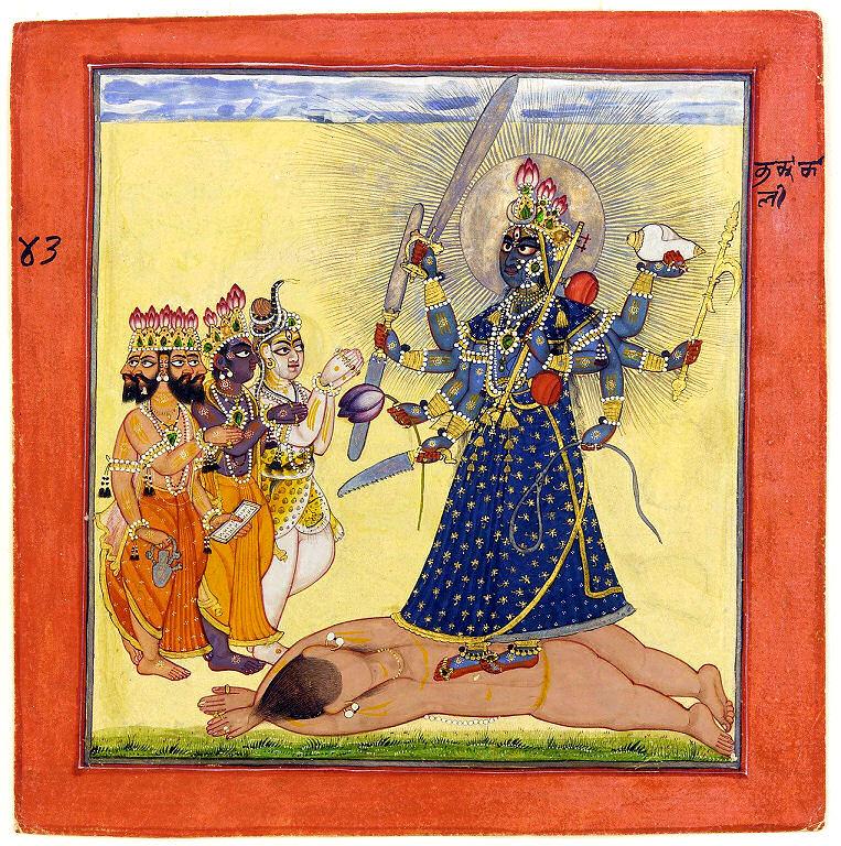Die indische Göttin Kali