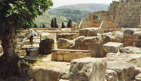 Kreta Palast Labyrinth von Knossos