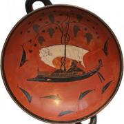 Gott Dionysos überquert das Meer