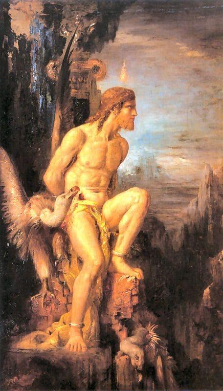 Prometheus am Kaukasus, Gemälde von Moreau