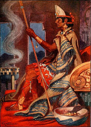Rituelles Räuchern bei den Azteken