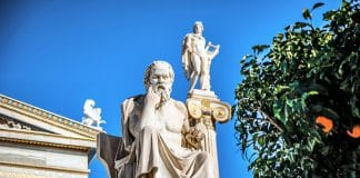 Sokrates Skulptur in Athen