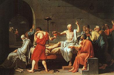 Sokrates nimmt den Schierlingsbecher