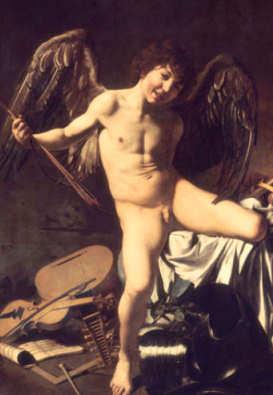 Amor / Eros / Cupido - Gemälde von Michelangelao