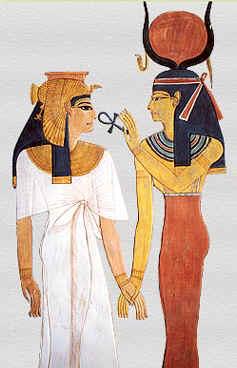 Götternamen - Nechbet und Hathor