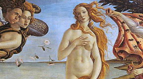 Aphrodite Göttin der Liebe, Gemälde von Sandro Botticelli