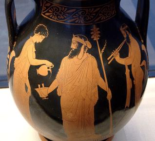 Götternamen - Dionysos und Gefolge