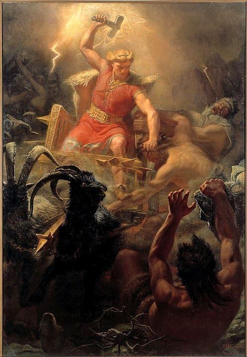 Der stärkste der nordischen Götter ist Thor mit seinem magischen Hammer Mjölnir