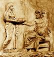 Titanen Rhea und Kronos