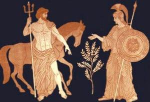 Athene und Poseidon im Streit