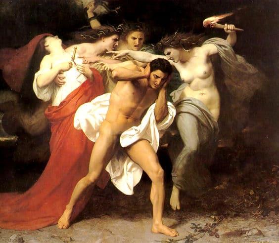 Römische Götter: Furien (griechisch: Erinnyen)