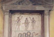 römische Götter Laren und Genien
