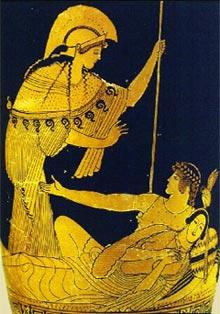 Athene Theseus und Ariadne
