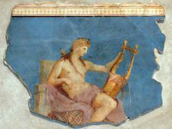 Apollon mit seiner Kithaira